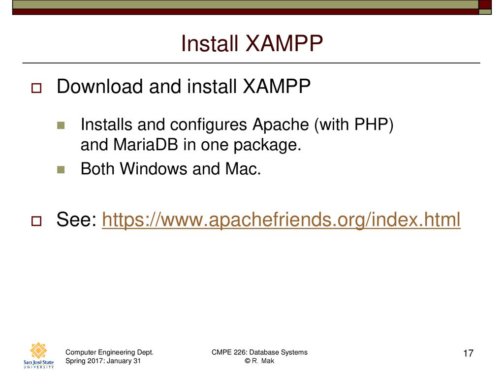 CMPE 226 Database Systems January 31 Class Meeting - ppt