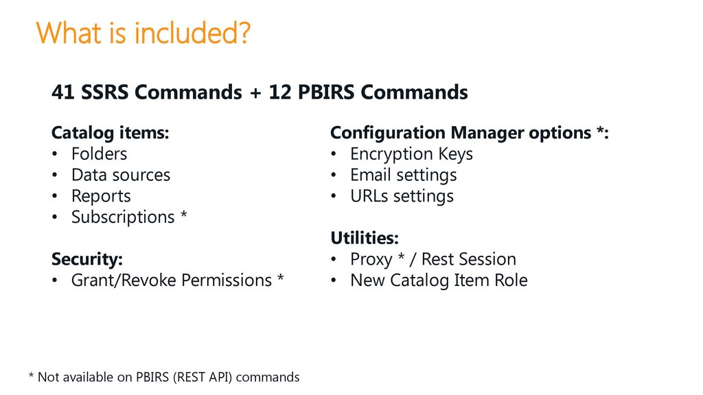 Administrating SSRS without boring web based clicks! - ppt