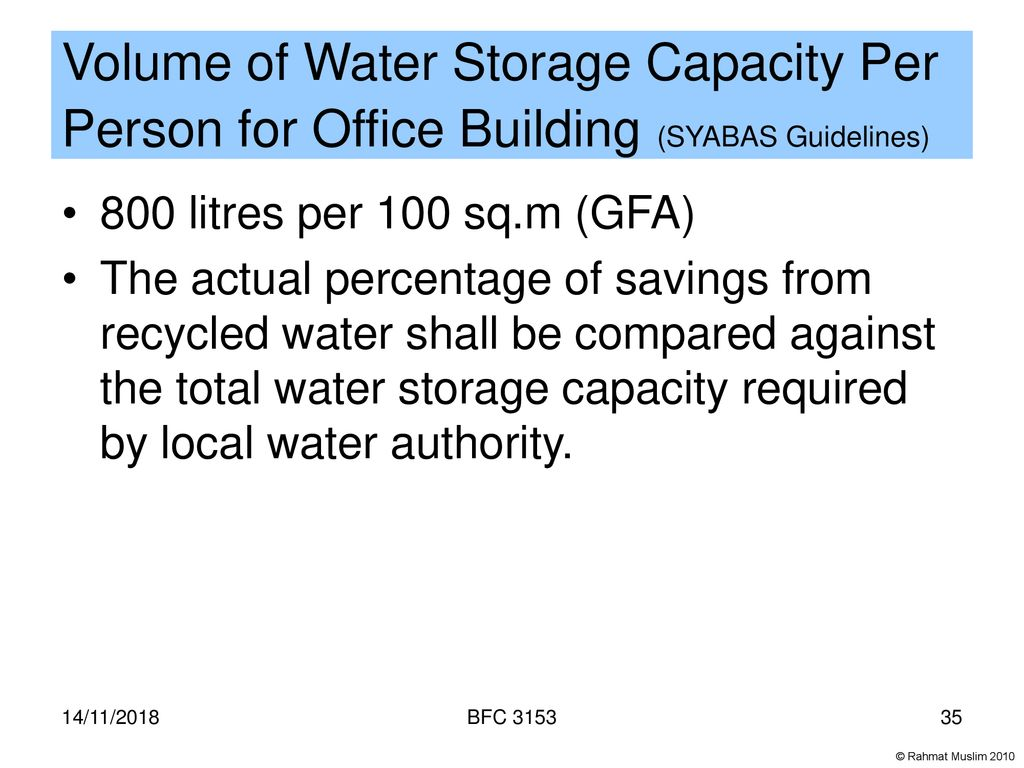WATER EFFICIENCY 14/11/2018 BFC ppt download