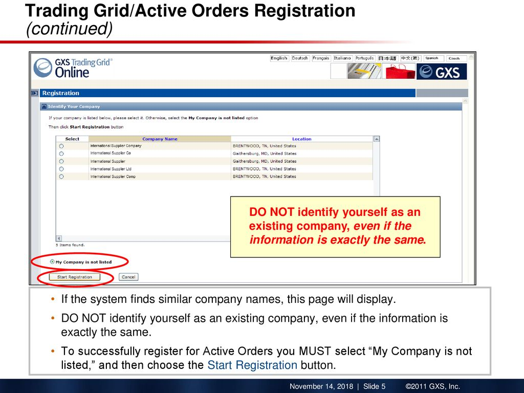 How to Register on Active Orders Trading Grid Company Registration