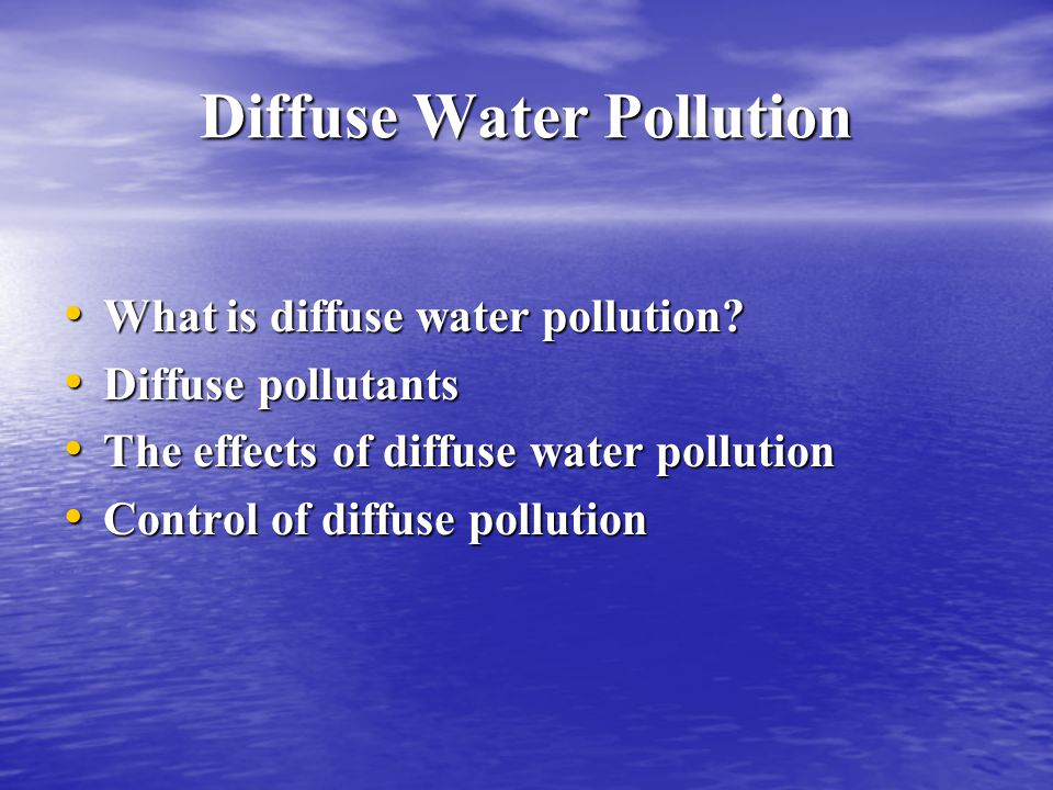 Diffuse Water Pollution
