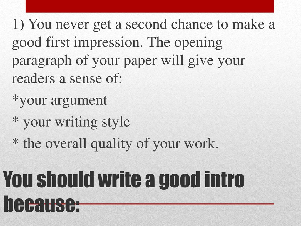 how to make a good introduction