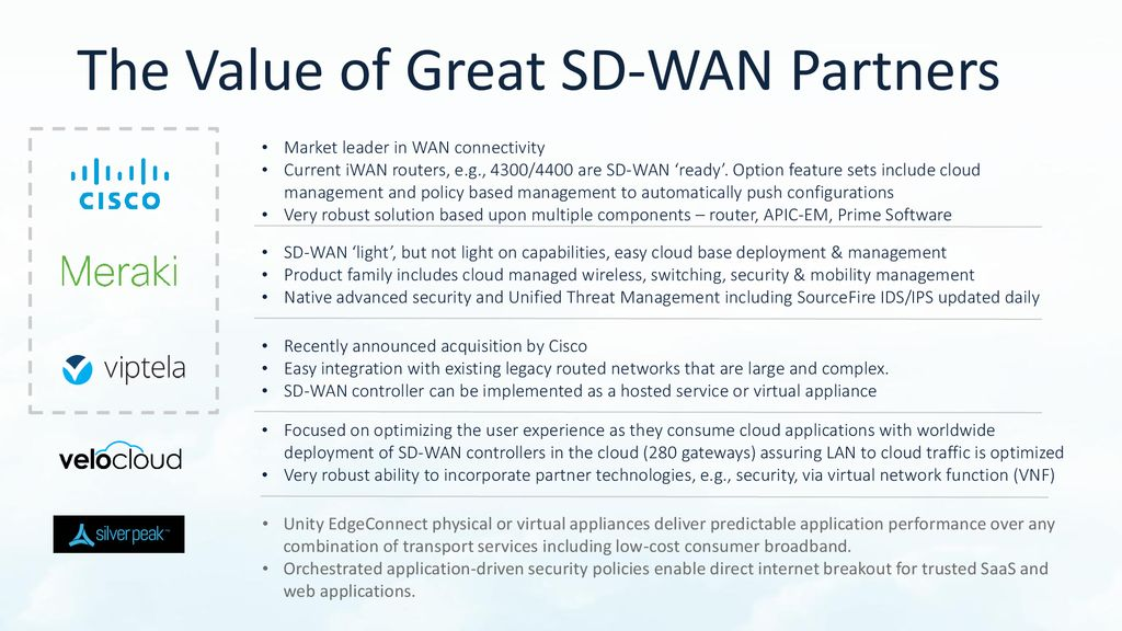 Agility Unleashed: What SD-WAN Can Do for You - ppt download