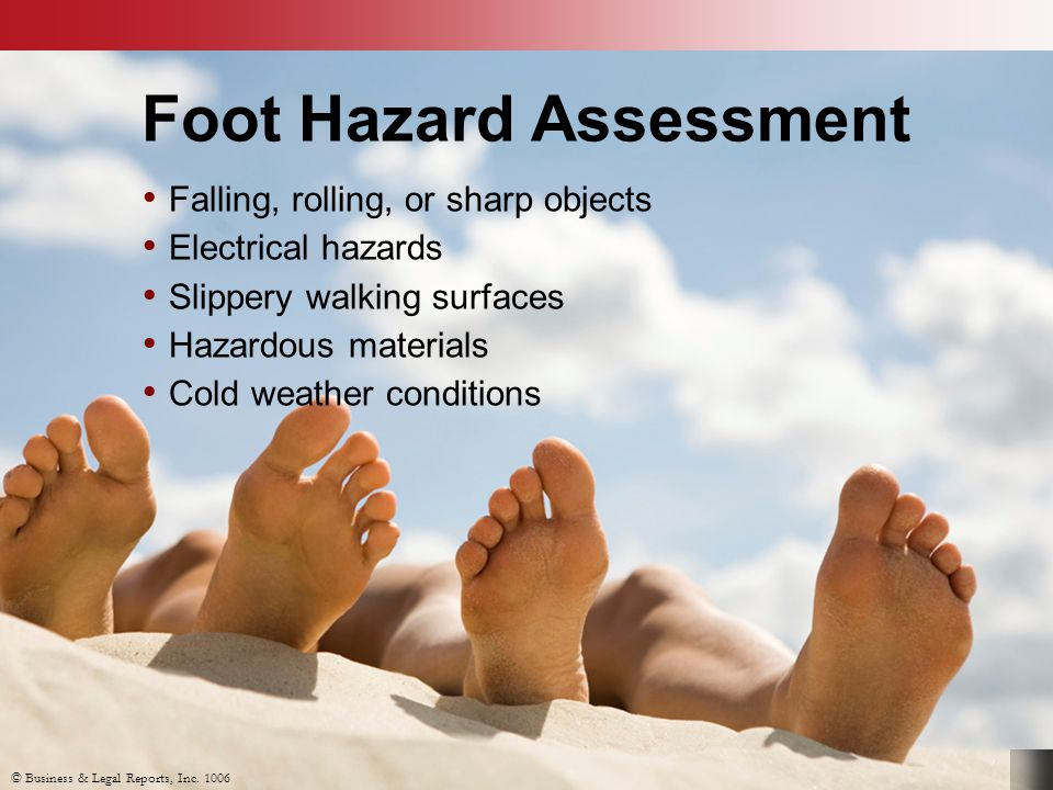 Foot Hazard Assessment
