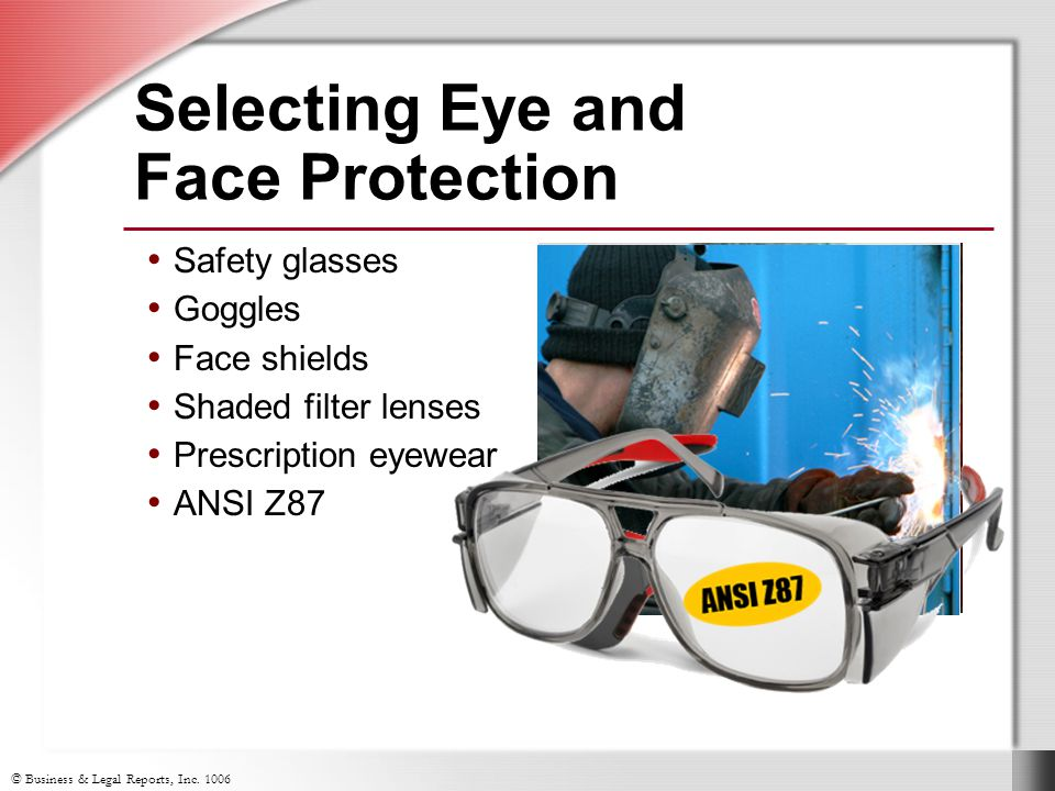 Selecting Eye and Face Protection