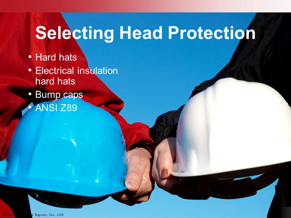 Selecting Head Protection