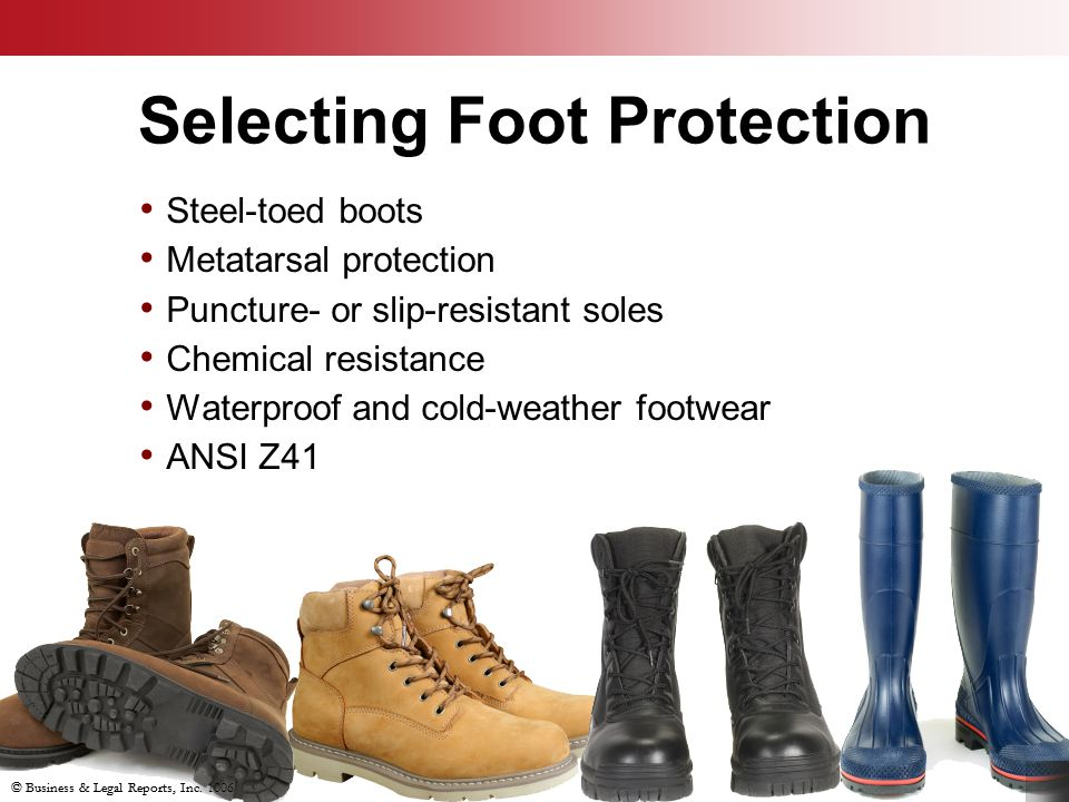 Selecting Foot Protection