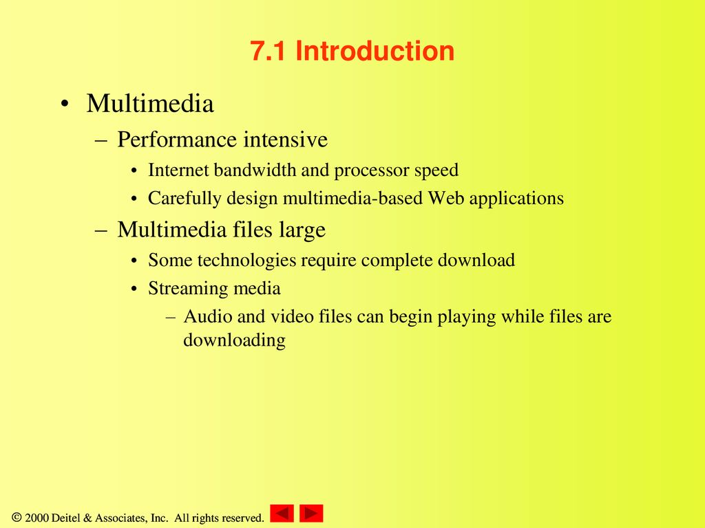 Chapter 7 – Multimedia: Audio, Video, Speech Synthesis and
