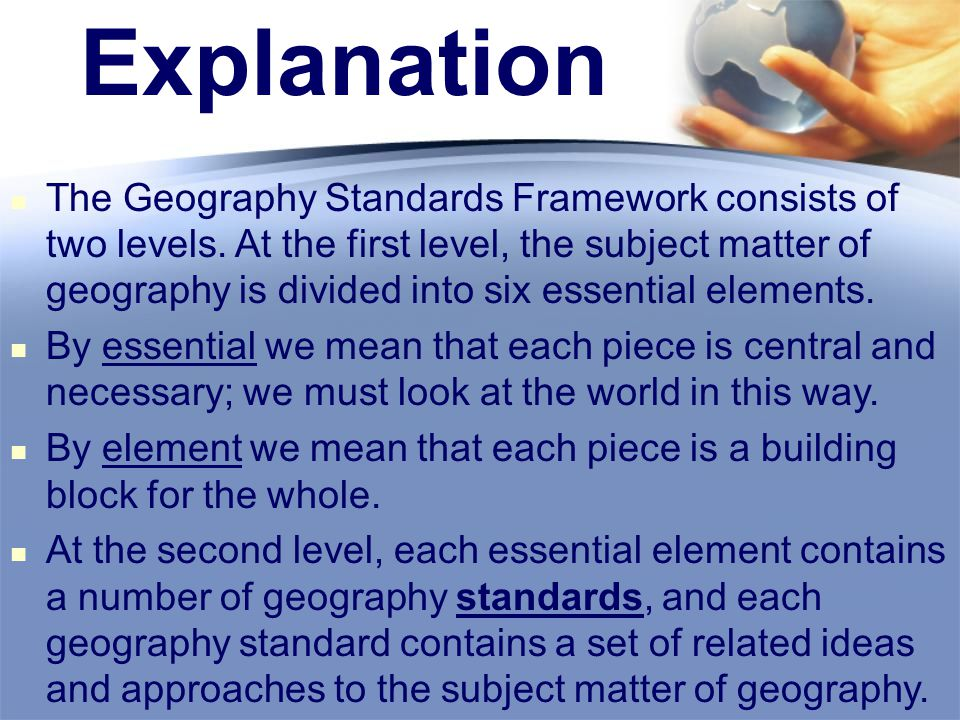 6 Elements Of Geography 2 Explanation