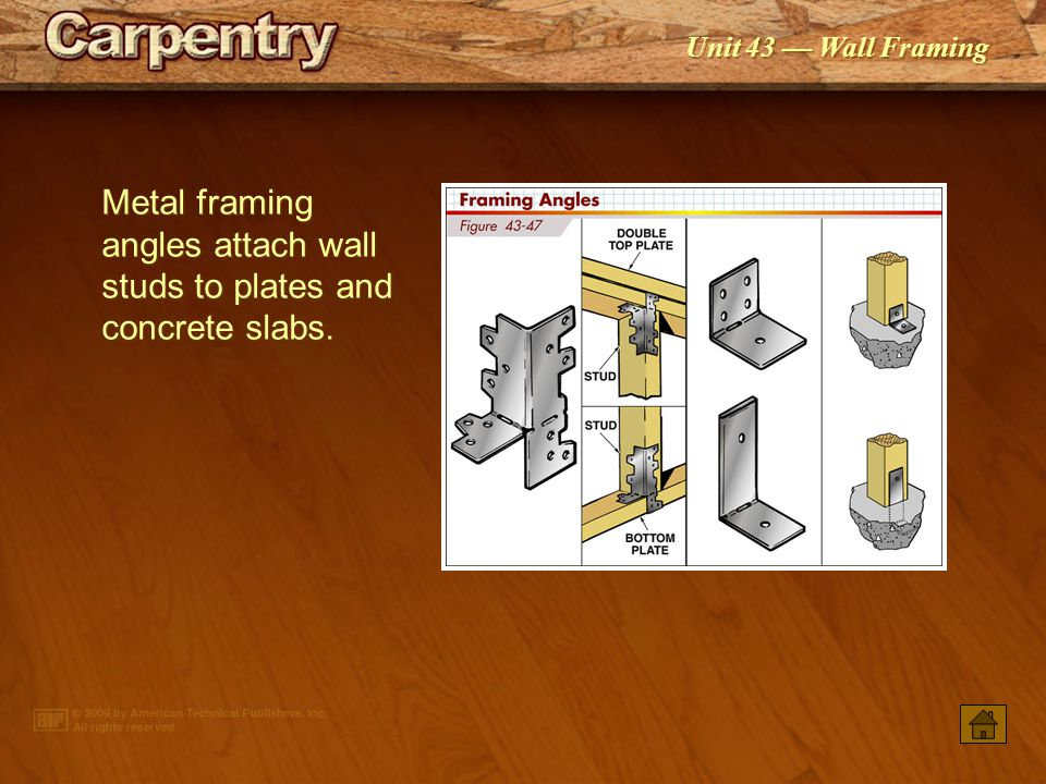 Unit 43 Wall Framing Wood-framed Wall Components • Constructing Wood ...
