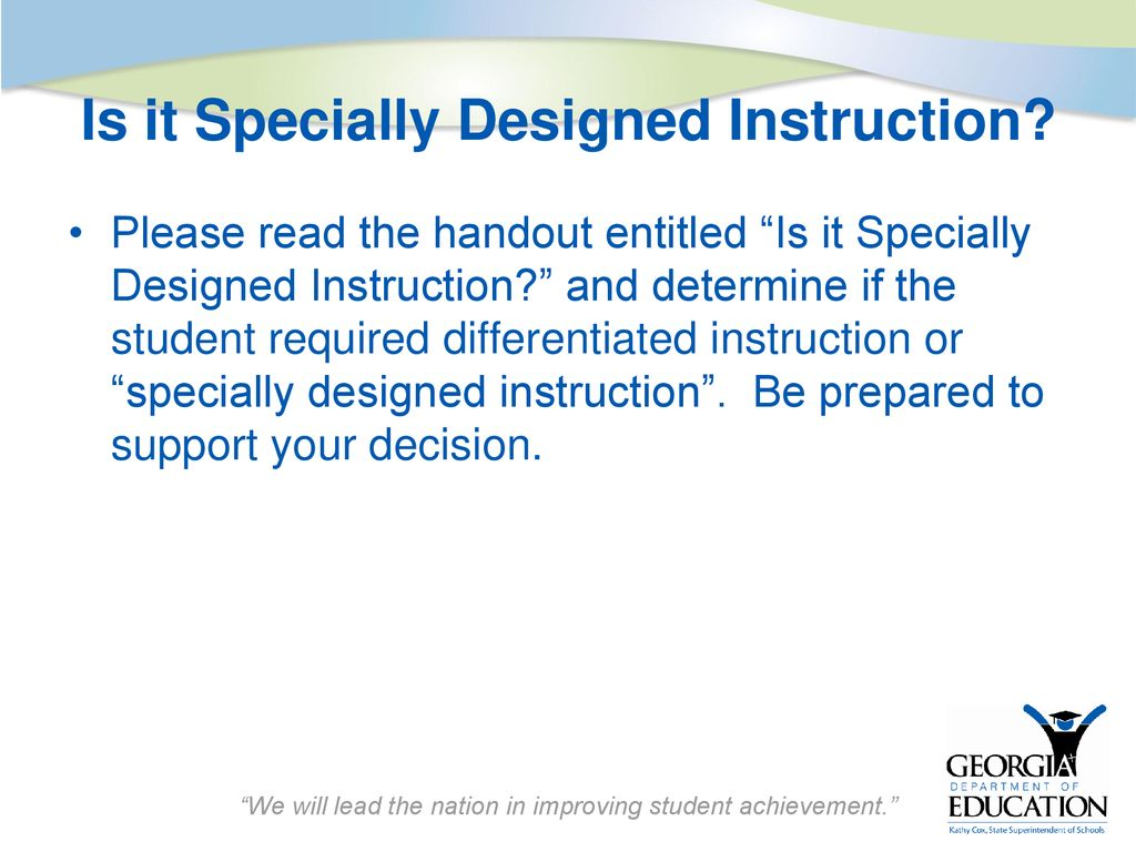 Implementing Specialized Instruction In The Standards Based Classroom Ppt Download