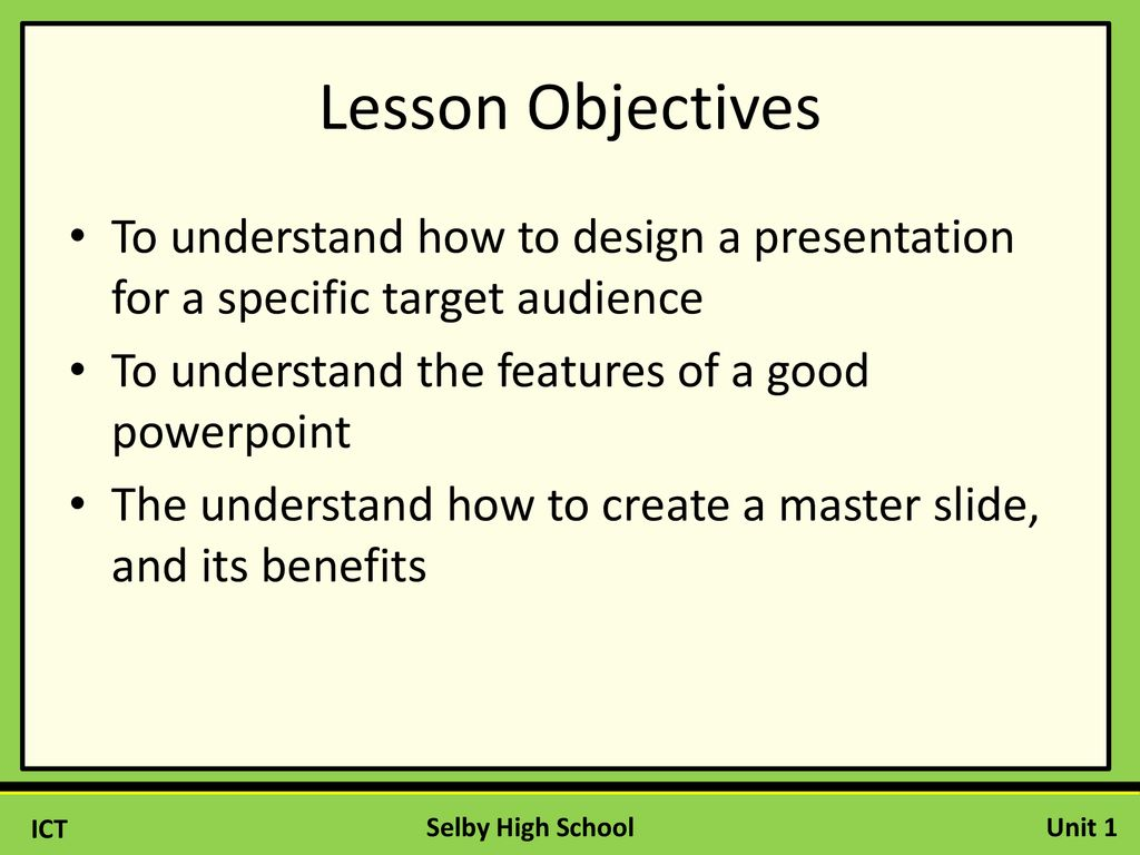 how to make a good powerpoint presentation for school