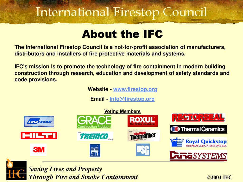 Fire Protection of Construction Joints - ppt download