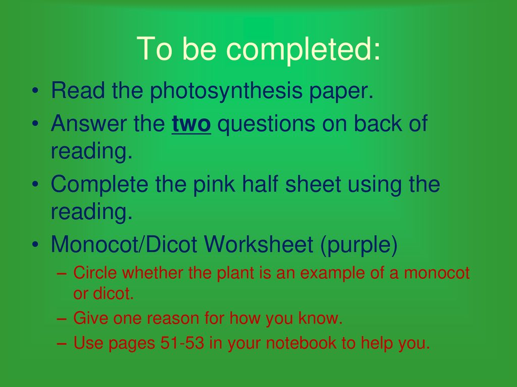 Get notebooks OPEN TO PAGE ppt download