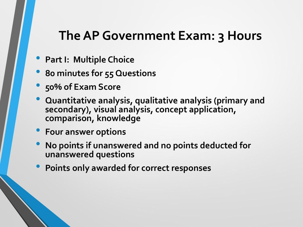 The Ap Government Exam 3 Hours Ppt Download