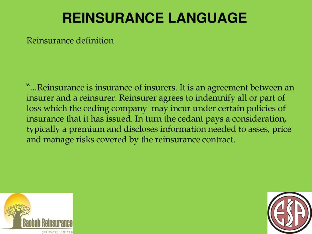 Reinsurance Theory Practice Design Ppt Download