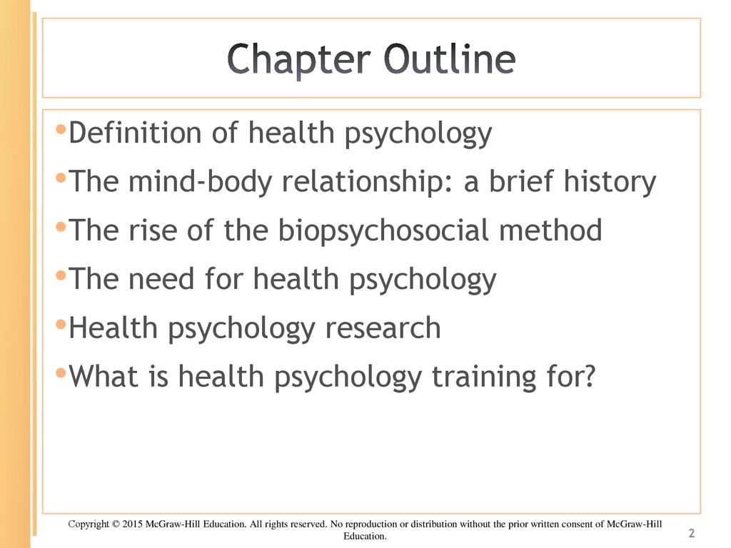 chapter one: what is health psychology? - ppt download