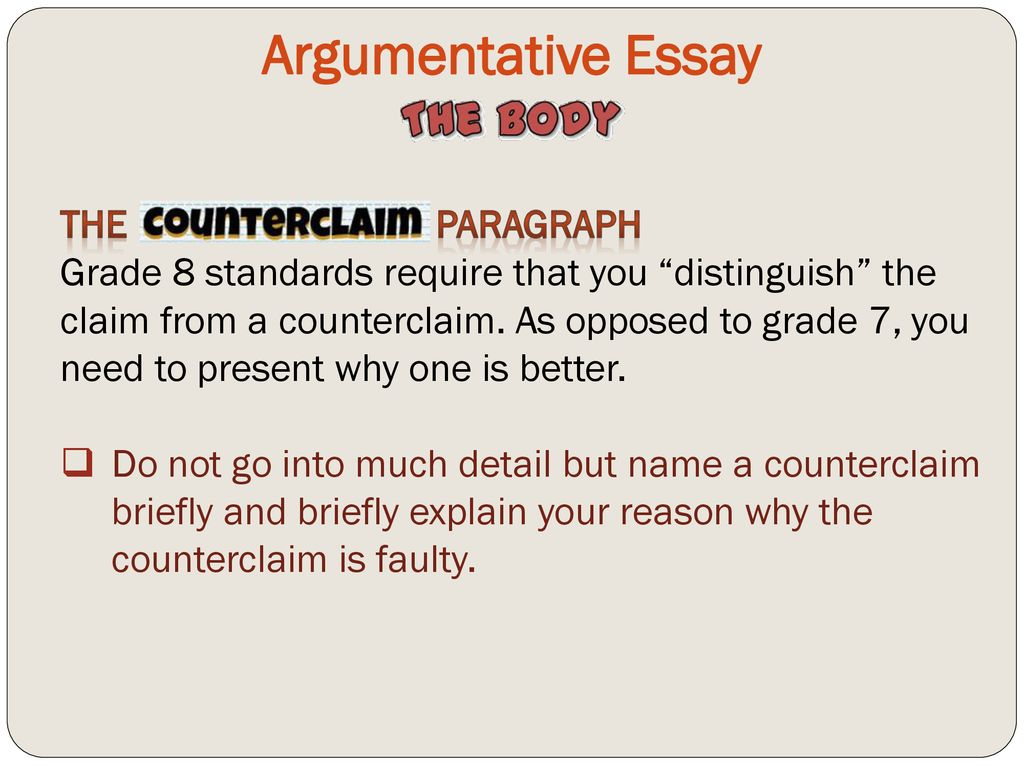 Counterclaim in an essay popular assignment writing services