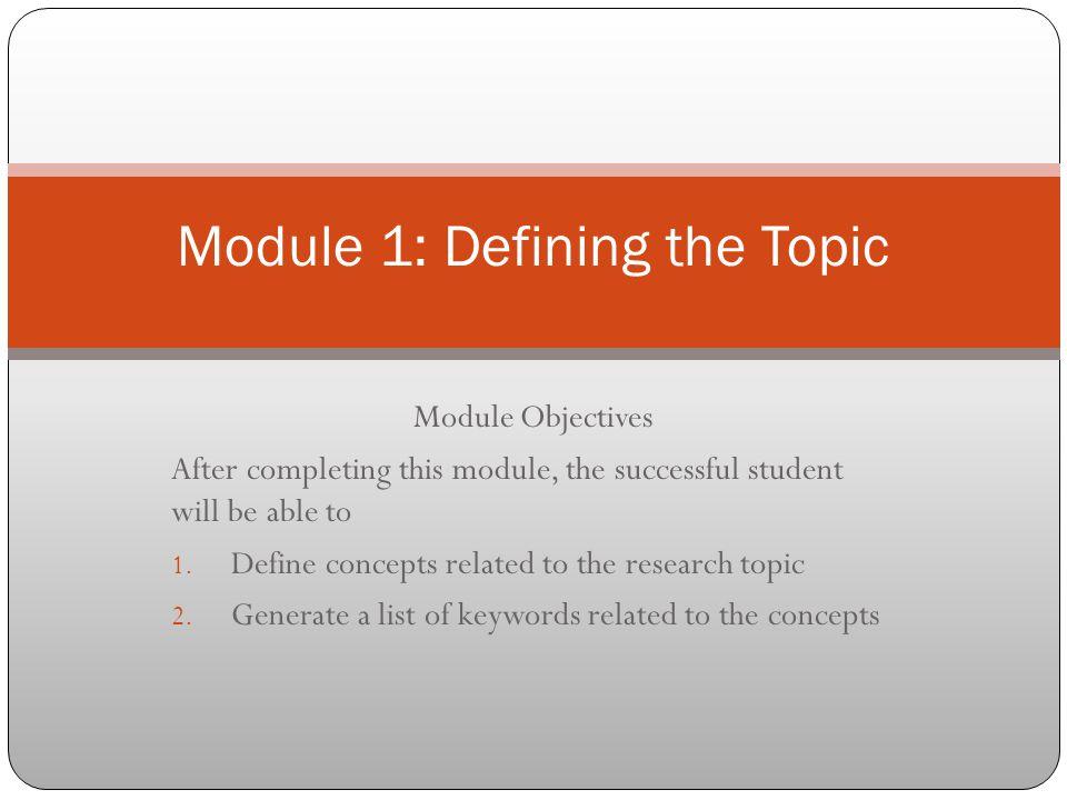 define a topic