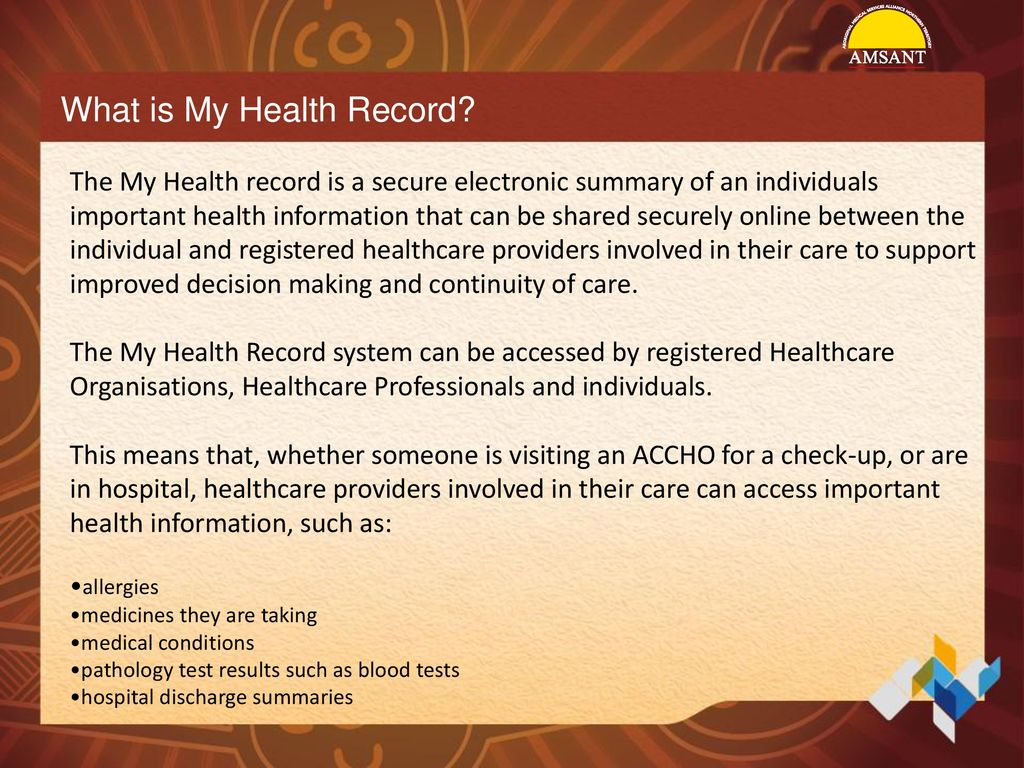 My Health Record system and Providing Enhanced Consumer Support in