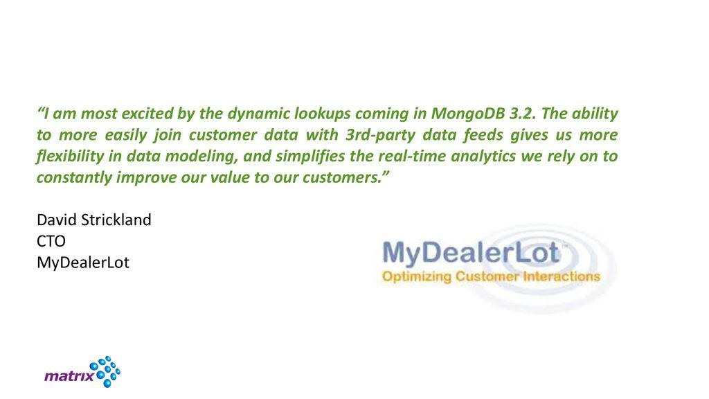 Massimo Brignoli Senior Solutions Architect, MongoDB - ppt download