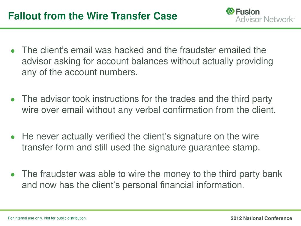 Fallout From The Wire Transfer Case