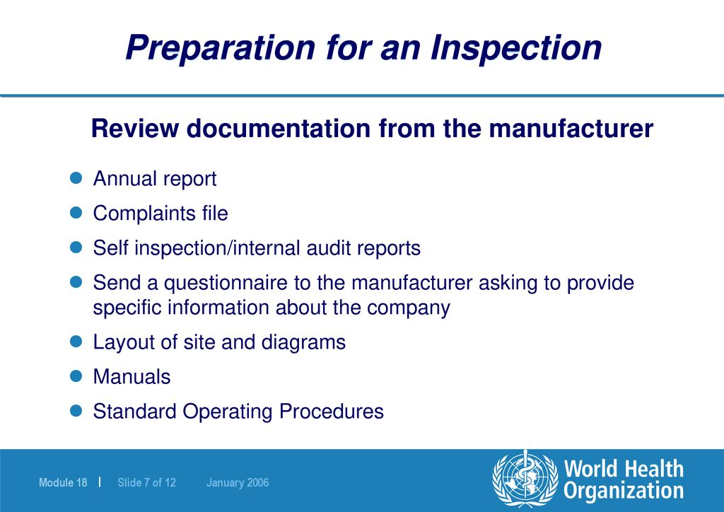 GMP Inspection Process - ppt download