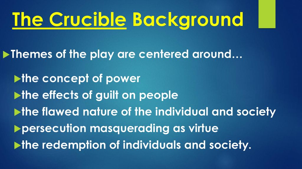 the crucible effect on society