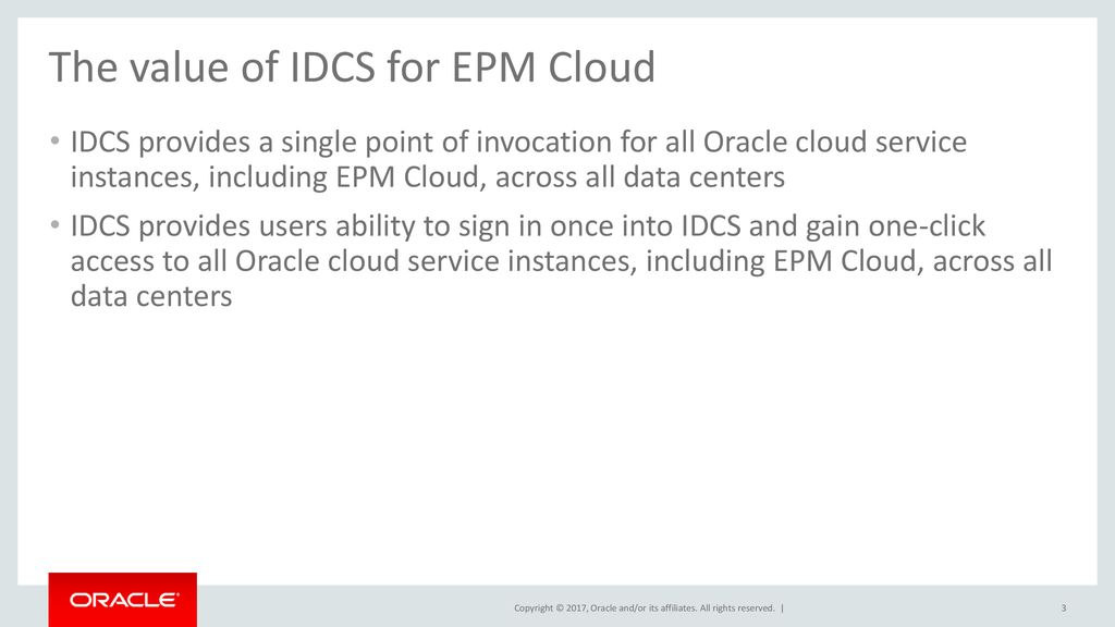 Public Single Sign-On for EPM Cloud Using Oracle Identity Cloud