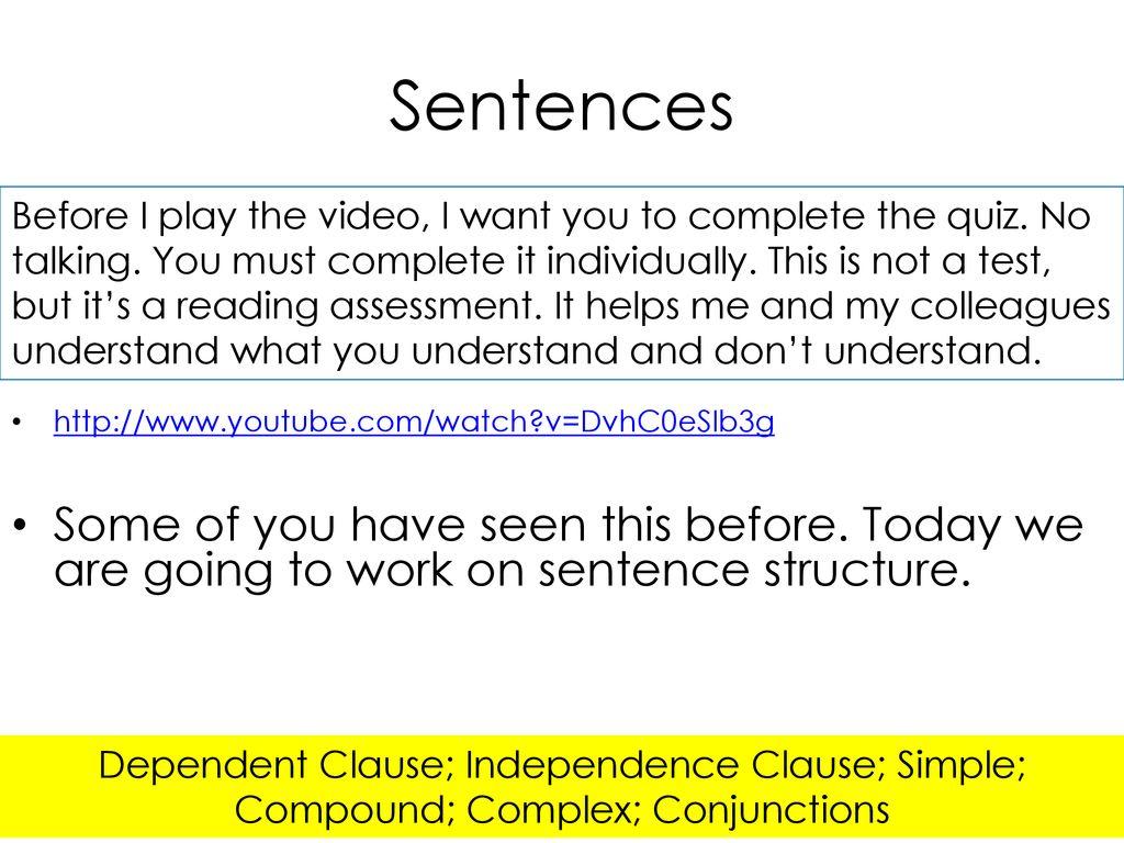 More handouts on complex sentences  - ppt download