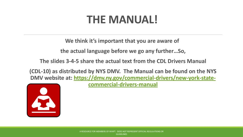 Fillable online dmv ny commercial driver s manual dmv ny fax.