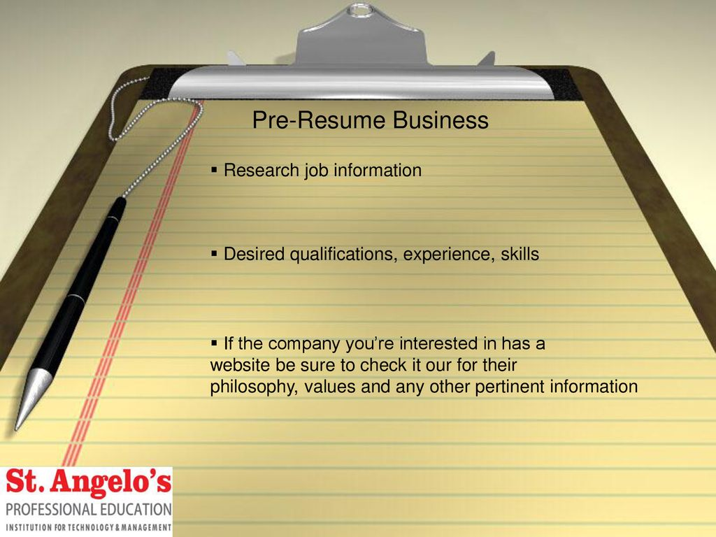 Resume CV Writing