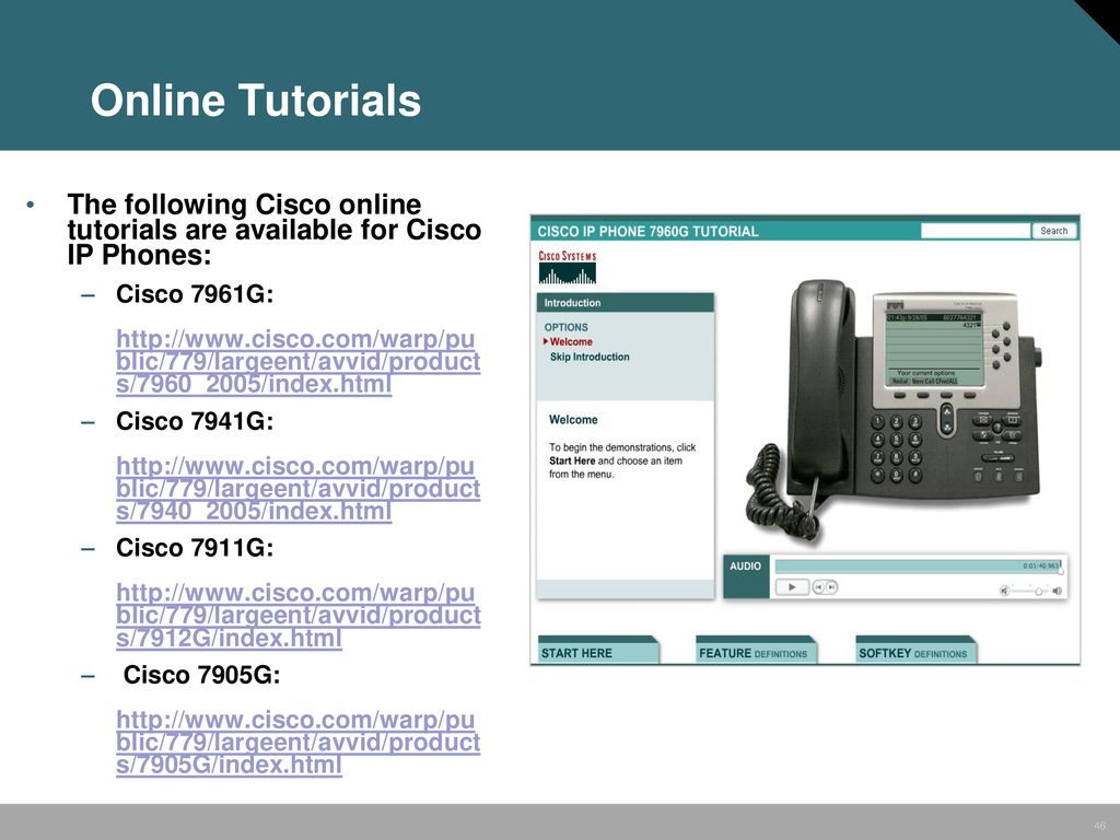 Cisco IP Communications Solutions End User Training - ppt