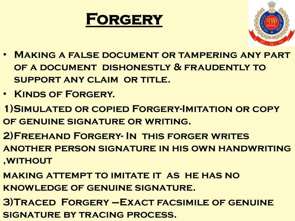 Document problems & principles, forgeries Etc  - ppt download