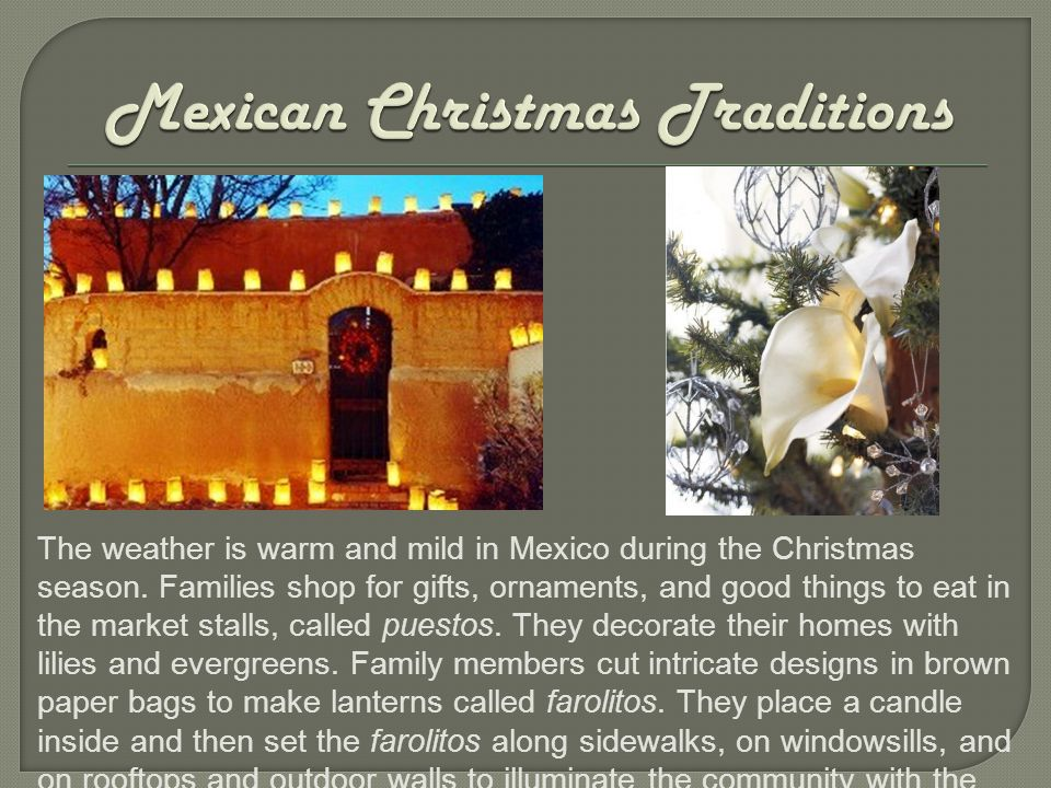 Come Along And Uncover The Mexican Christmas Celebrations