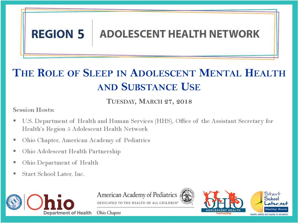 The Role Of Sleep In Adolescent Mental Health And Substance Use