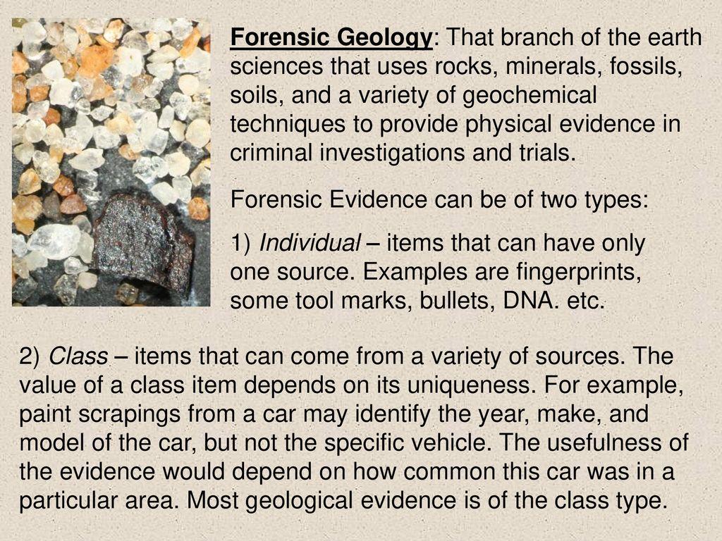 Forensic Geology Geol 2150 Professor Lori Weeden Ppt Download
