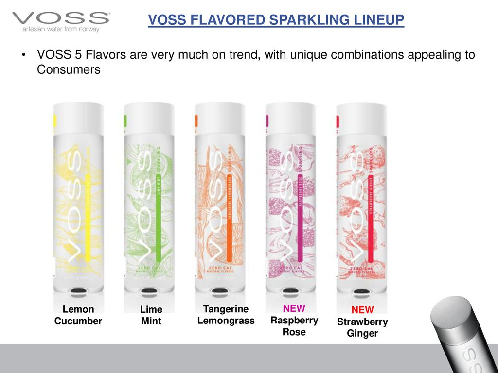 Voss of Norway AS RETAIL FLAVORED SPARKLING SELL DECK © Voss of