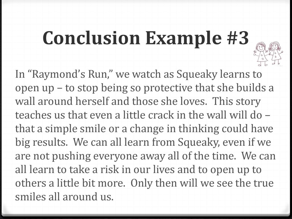 simple conclusion example