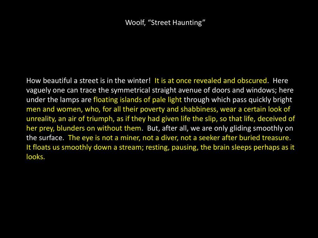 woolf street haunting