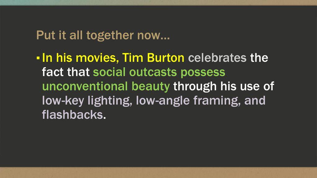Tim Burton Essay  Ppt Download  Put