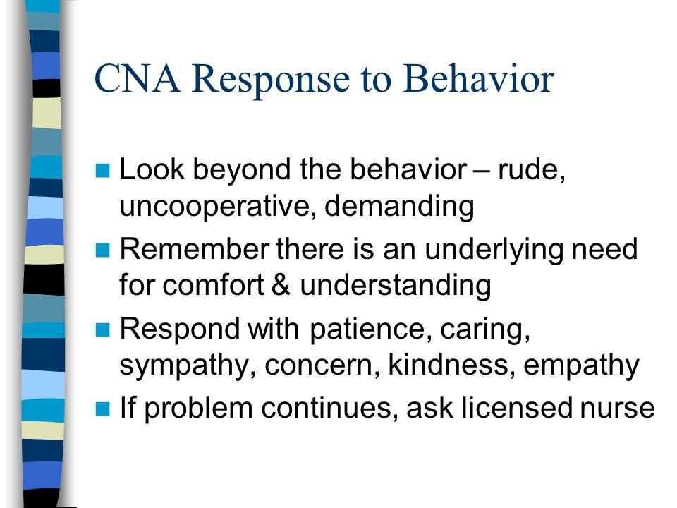 4 CNA Response To Behavior