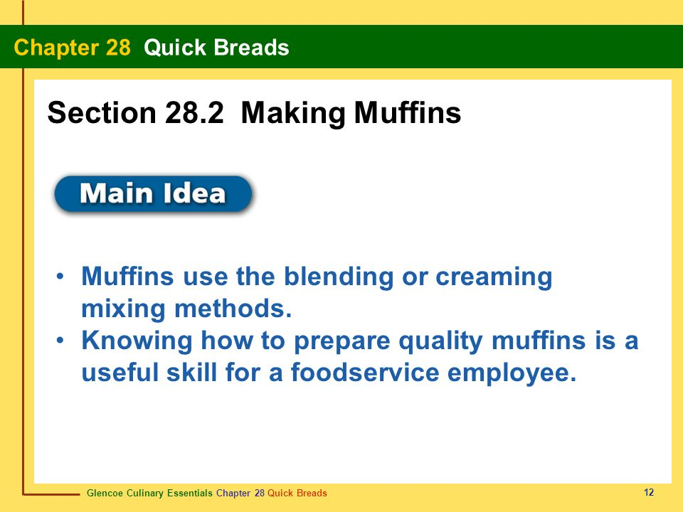 Section 28.2 Making Muffins
