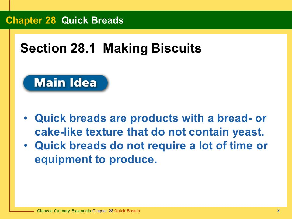Section 28.1 Making Biscuits