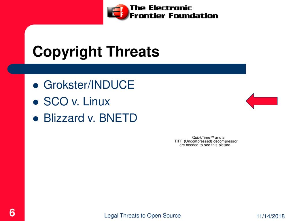 Legal Threats to Open Source - ppt download