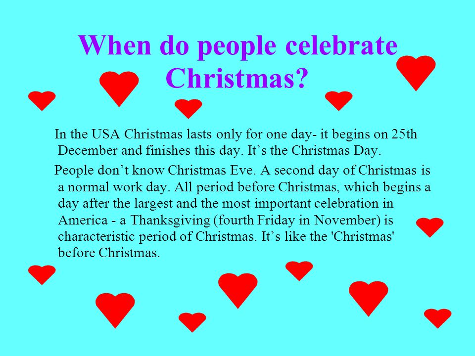 Christmas In Theusa The United States Of America The State By The