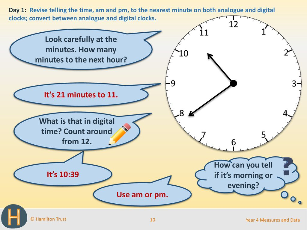 Unit 20 Telling time to nearest minute; am and pm   ppt download