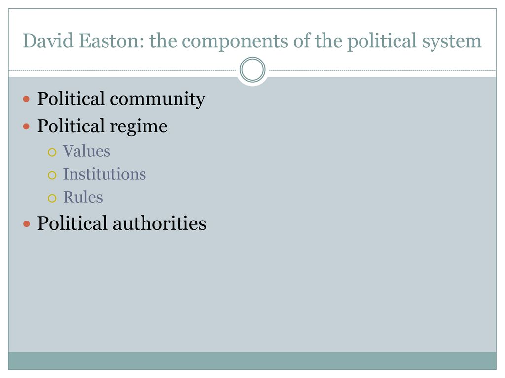 david easton political system theory