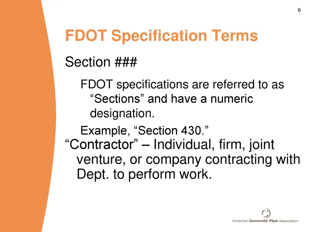 Navigating FDOT Specifications and Standards - ppt download