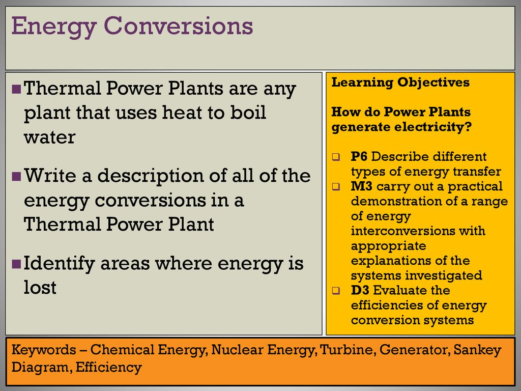 Btec Level 3 Applied Science Ppt Download Diagram Of A Nuclear Power Plant For Generating Electricity Energy Conversions Thermal Plants Are Any That Uses Heat To Boil Water